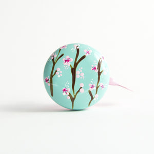 premium cherry blossom sakura hand painted on peppermint bicycle bell