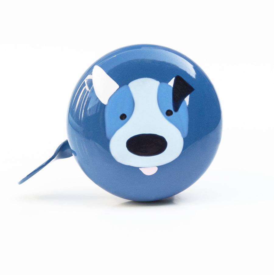 premium puppy dog hand painted on blue bicycle bell