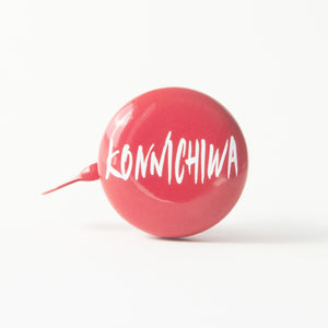 premium konnichiwa printed on red bicycle bell