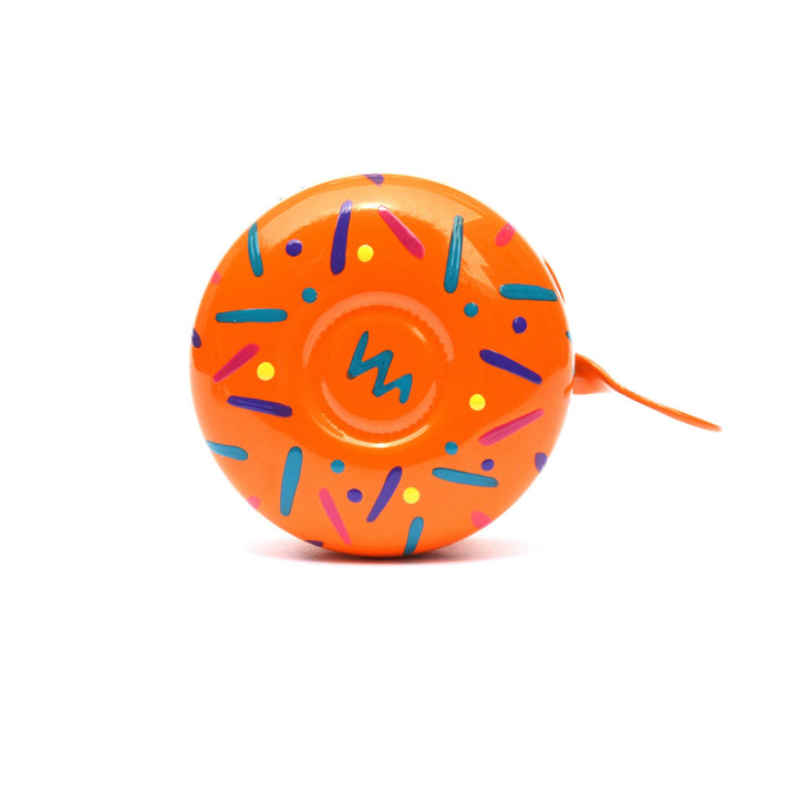 premium colourful pattern hand painted on orange bicycle bell