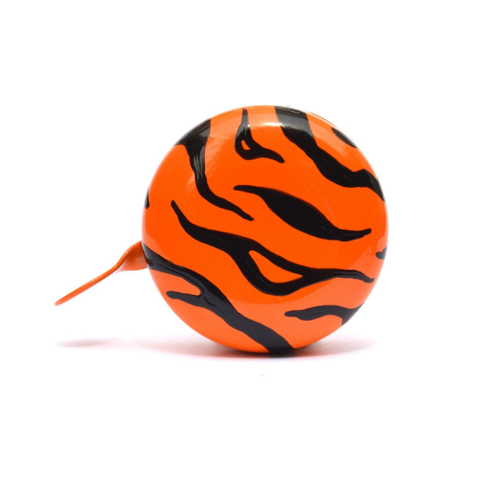 premium tiger pattern hand painted on orange bicycle bell