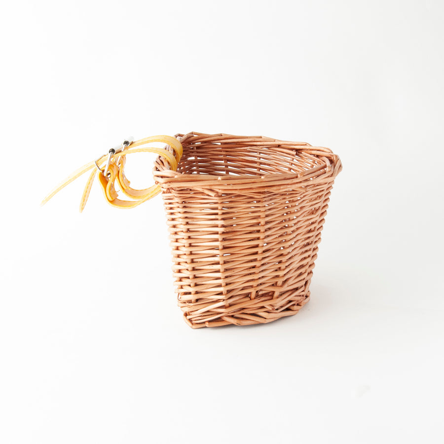 Beep Kids Wicker Bike Basket (Natural & Yellow)