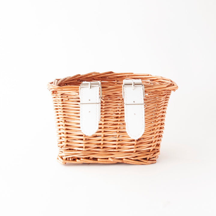 Beep Kids Wicker Bike/Scooter Basket (Natural & White)