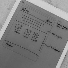 reMarkable - Browser Wireframe