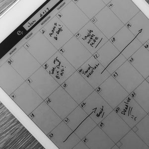 reMarkable - Monthly Calendar Template