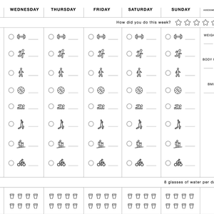 reMarkable - Weekly Fitness Log