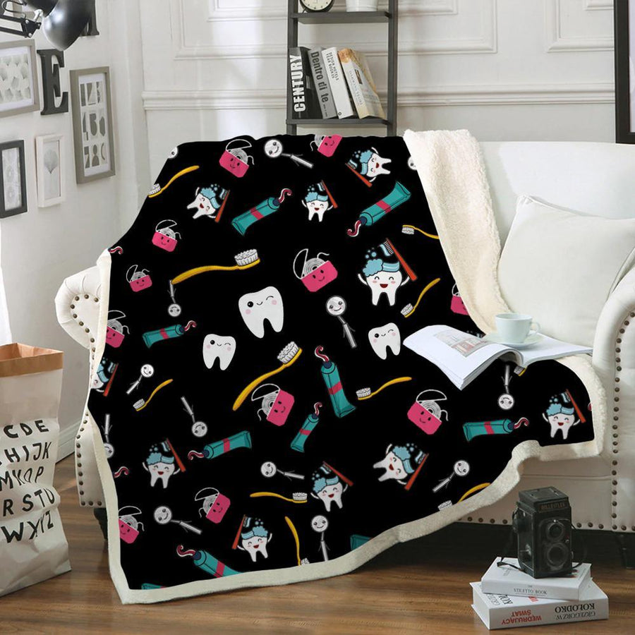 Dental Super Cute Blanket