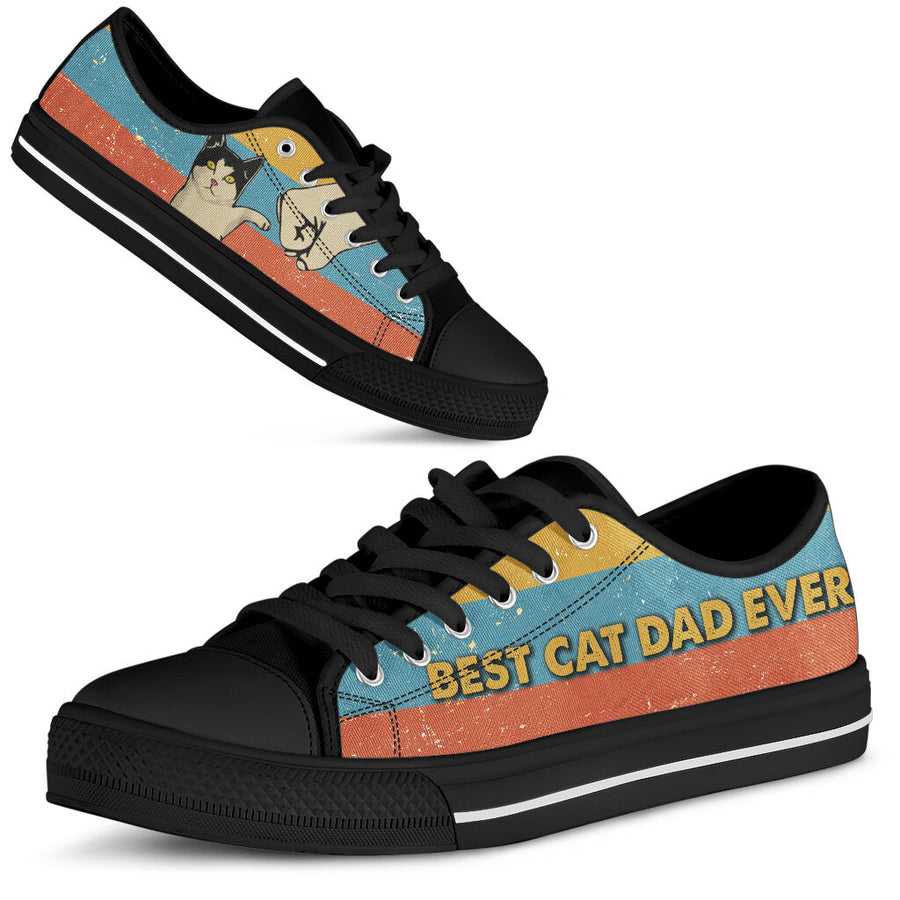 Best Cat Dad Ever Sneakers - Best gift for cat dad, cat dad shoes, cat dad sneakers