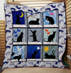 Cat Blanket, Gift Idea For Cat Lovers, Cat Dad Mom - Pretty Cat Quilt Blanket 3