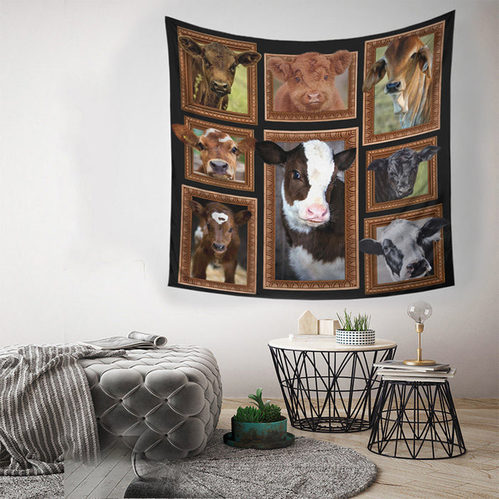 COW-CUTE COW WALL HANGING TAPESTRY