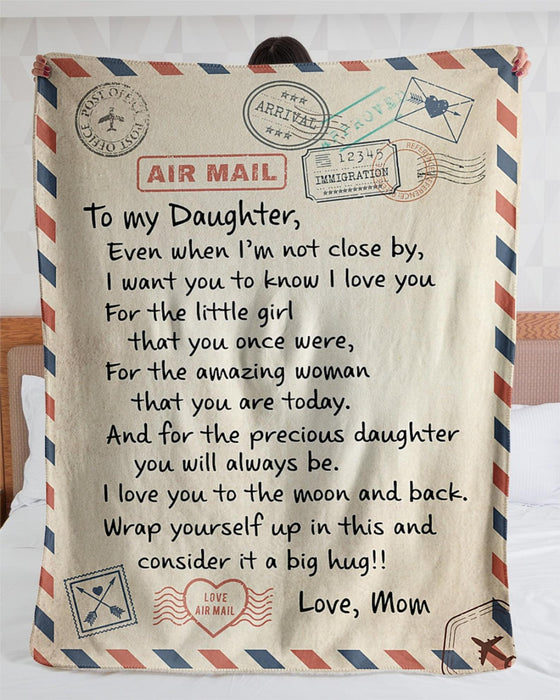 Personalized handwritten letter blanket - Best Christmas Gift for Daughter - To My Daughter Mom & Daughter Love Letter Fleece Blanket