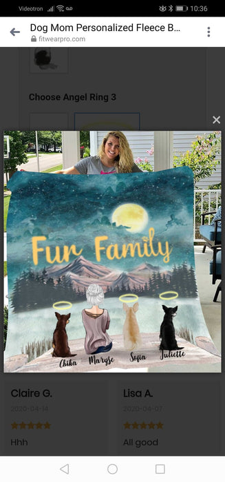 Maryse Beaulieu Order Alter for dog mom personalized fleece blanket large