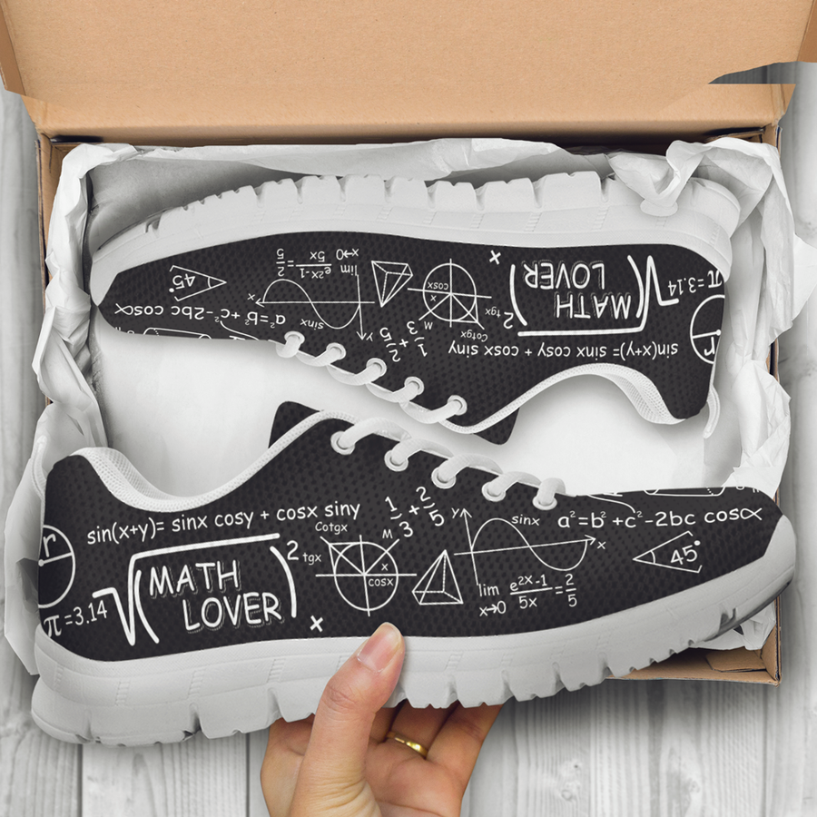Best Math Lovers Sneakers - Shoes for math lovers. Gift for math teachers. Gift for math lovers
