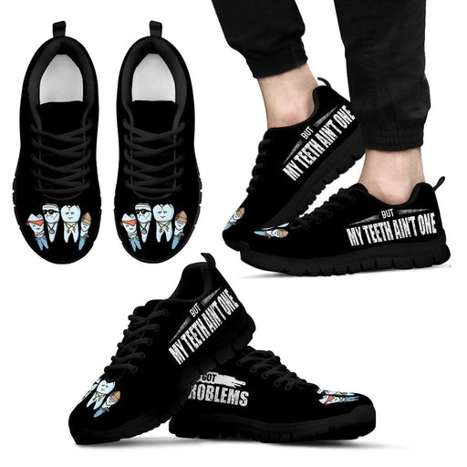 Men's Sneakers - Black - 99 Teeth Problems Shoes / US5 (EU38) 99 Teeth Problems Shoes