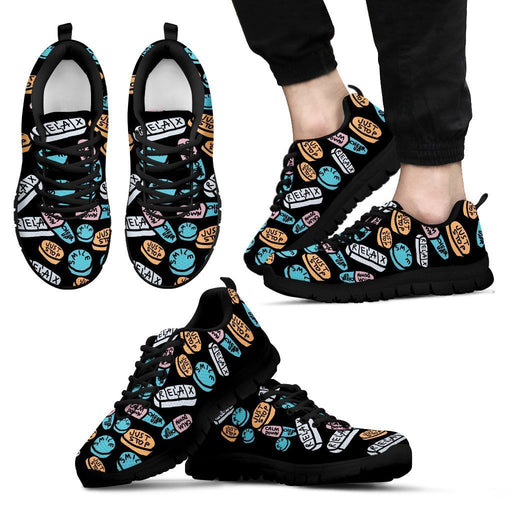 Men's Sneakers - Black - Black Women / US5 (EU38) Pharmacy Cute Work Shoes