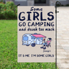 Personalized Camping Flag Sign - Camping Girls Personalized Banner - Some Girls go camping and Drink Too Much