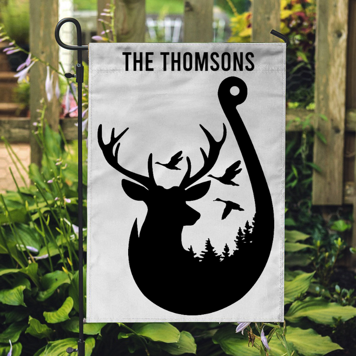 Hunting Flag - A Deer And The Forest  - Garden Flag