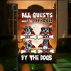 Custom Dog Flag Sign  Personalized Halloween Dog Banner - All Guests Must Be Approved By The Dogs