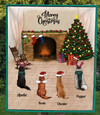 4 Pets - Personalized Christmas Blanket