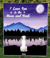 Custom Pet Blanket - Personalized Gifts For Dog And Cat Lovers - 1 PET -  Moonlight Quilt Blanket