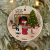 Personalized Pet Christmas Ornament - Christmas Gifts For Dog and Cat Lovers - Pet Mom Upto 4 Pets