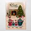 Personalized Christmas Poster - Best Christmas Gift for the whole family - Parents & 2 Kids - Merry Christmas