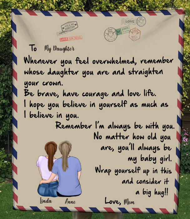 To My Daughter- Personalized Fleece Blanket