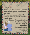 Personalized handwritten letter blanket - Best Christmas Gift for Daughter - To My Daughter Mom & Adult Daughter Love Letter Quilt Blanket - You'll always be my baby girl