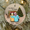 Personalized Christmas Ornament Gift for Mom and Daughter - Mom and Daughter Ornament - Like Mother Like Daughter