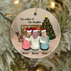 Personalized Christmas Ornament Gift for Mom and Daughter - Mom and 2 Daughters Ornament - Like Mother Like Daughter