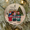 Personalized Best Friend Christmas Gift Idea Ornament - BFF Ornament with 3 Besties - Besties Forever