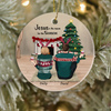 Personalized Christmas Ornament gifts for the whole famliy, dog cat lovers - Upto 3 kids/ 2 pets Christmas Ornament - Jesus is the reason for the season