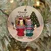 Personalized Best Friend Christmas Gift Idea Ornament - BFF Ornament with 2 Besties - Besties Forever