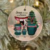 Personalized Family Christmas Ornaments gifts for the whole family - Parents & Kid Family Ornament - Jesus is the reason for the season