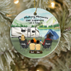 Personalized Family Christmas Ornaments gifts for the whole family, camping lovers - Parents & 2 Kids Family Ornament - Making memories one campsite at a time