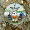 Personalized Christmas Ornament gifts for dog cat lovers - Couple & 2 Pets Camping Ornament - Making memories one campsite at a time