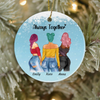 Personalized Best Friend Christmas gift ideas Ornament - Upto 3 Besties - Always Together