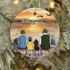 Personalized Family Christmas Ornaments gifts for the whole family - Full options for family/single mom - Fishing Ornament - Life is better at a lake