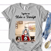Personalized Mother's Day Gift For Dog Mom - Mom With 3 Dogs Personalized T-shirt - Together We Make A Family
