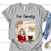 Personalized Mother's Day Gift For Dog Mom - Mom With 1 Dog Personalized T-shirt - Up To 3 Dogs - Fur Family