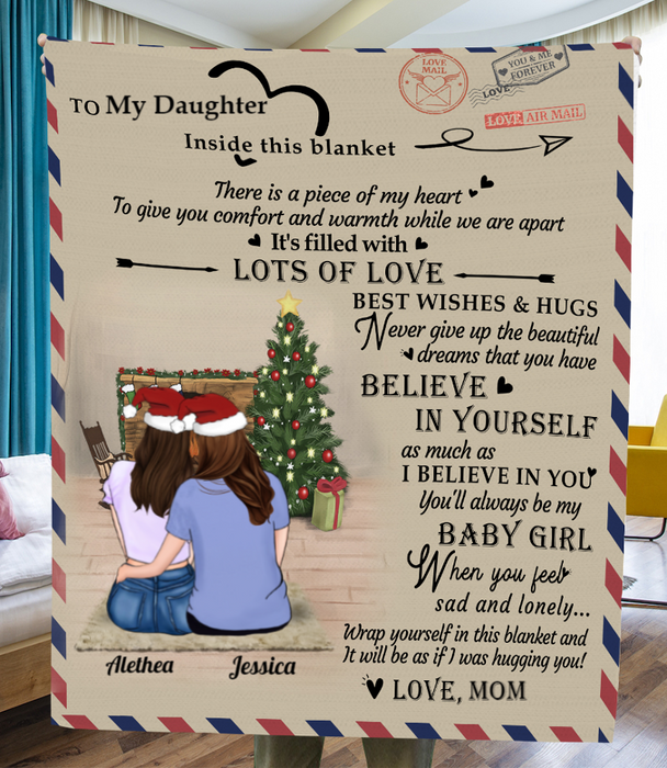 Personalized handwritten letter blanket - Best Christmas Gift for Daughter - To My Daughter Mom & Adult Daughter Love Letter Fleece Blanket - Believe in Yourself