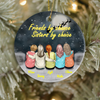 Personalized Christmas Ornaments Gifts For Best Friends - Besties on Rooftop - Up to 5 Besties - Friends by chance, sisters by choice