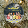 Personalized Christmas Ornaments Gifts for besties - 5 BFFs on Rooftop - Friendship makes life merrier