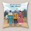 Personalized Pillow Case, Personalized Mother's day gift from daughter to mom - Native American Mother and 2 Daughters - Our DNA is definitely Native American
