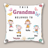 Personalized Gifts For The Whole Family - Personalized Mother's Day Gift For Grandma - 4 Kids Pillow - This Grandma Belongs To