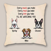 Personalized dog throw pillow cover - Custom gift idea for the whole family, cat dog lovers - 3 dogs pillow cover - I'll be watching you