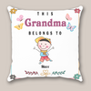 Personalized Gifts For The Whole Family - Personalized Mother's Day Gift For Grandma - 1 Kid Pillow - This Grandma Belongs To