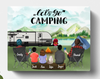 Personalized Camping Canvas, Gift Idea For The Whole Family - Parents & Kids, Teens And  Pets - Father's day gift - Mother's day gift from husband to wife - Let's Go Camping