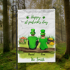 Personalized Garden Flag Sign, Best Gift For Couple - Personalized Couple Banner  - St Patrick's Day Flag - Happy St Patrick's Day