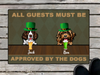 Personalized Doormat & St Patrick's Day - gift for dog lovers - Up to 3 Dogs - All Guests Must Be Approved By The Dogs